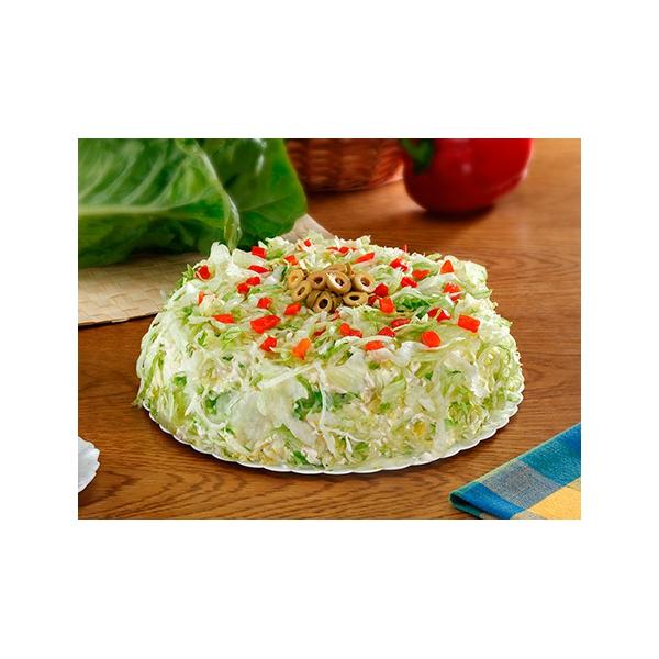 Pastel Vegetal Con Tomate Lechuga Aceitunas Y Pimiento