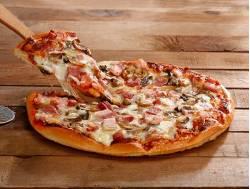 Pizza de bacon con champiñones Zabala