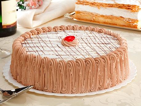 Tarta de nata y trufa Zabala