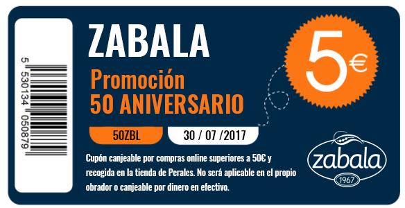 50 aniversario zabala descuento